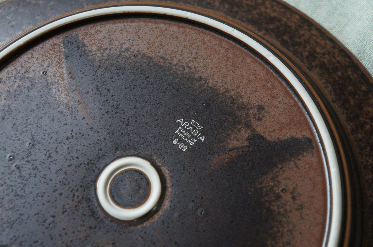 ARABIA Ruska Dinner Plate 25.5cm Ulla Procope/アラビア ルスカ ディナープレート ウラ・プロコッペ フィンランド ヴィンテージ 北欧食器 1