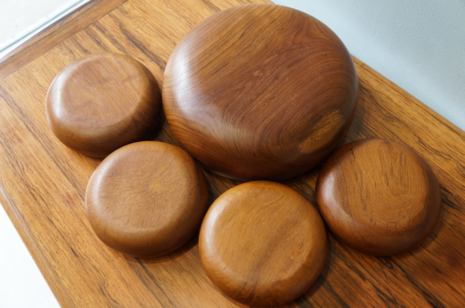 Vintage Teakwood Bowl Set/チークウッド ボウル セット ヴィンテージ食器 北欧スタイル インテリア