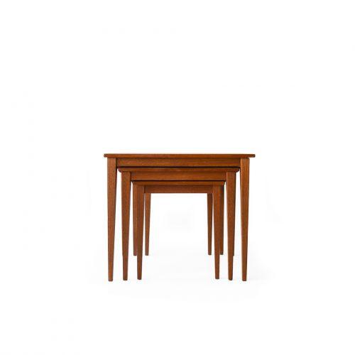 Danish Vintage Kvalitet Form Funktion Nesting Table/デンマーク ヴィンテージ ネストテーブル チーク材 北欧家具