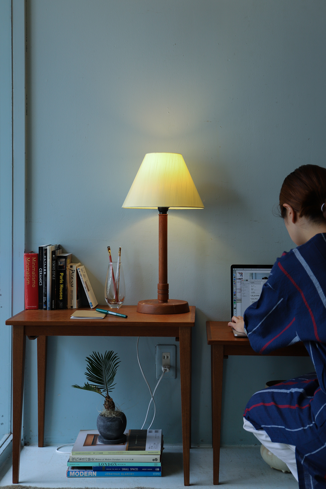 Japanese Vintage Table Stand Lamp/ジャパンヴィンテージ テーブルスタンド ランプ 間接照明 チーク材 インテリア