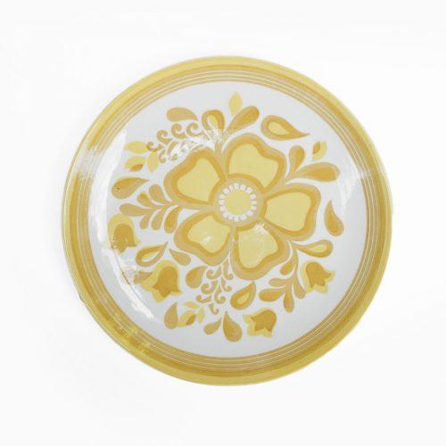 US Vintage Royal China Damsel Dinner Plate/アメリカ ヴィンテージ ロイヤルチャイナ ダムセル ディナープレート 食器 レトロ 1