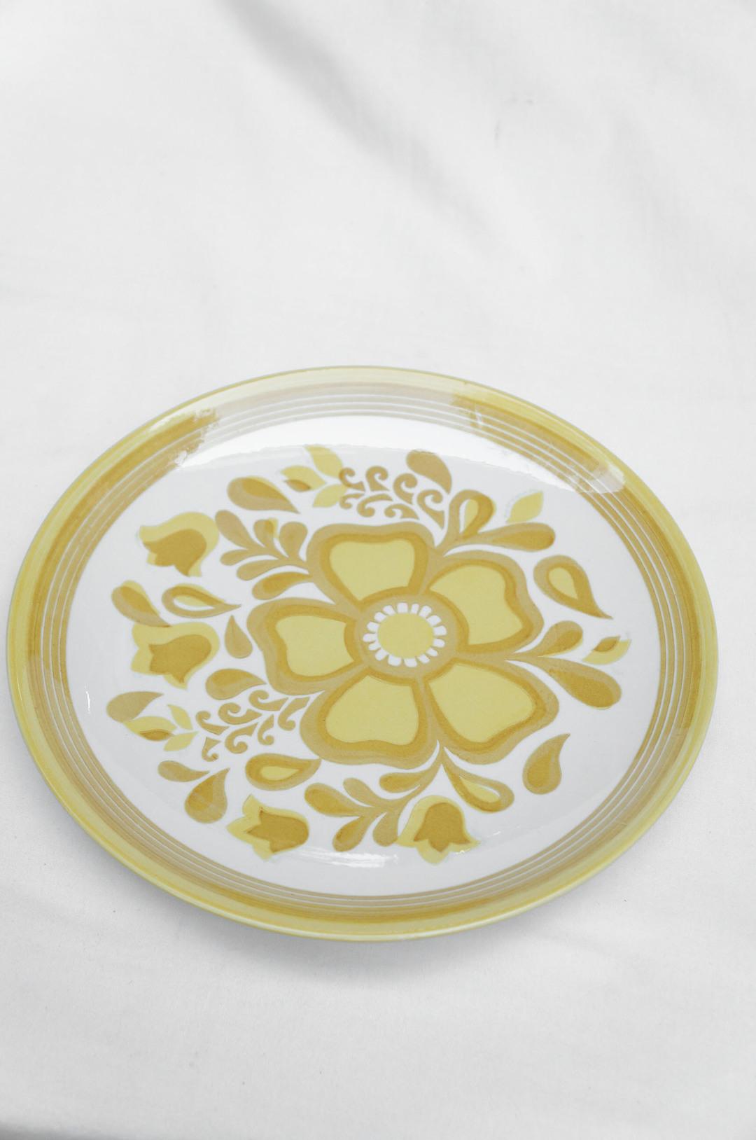 US Vintage Royal China Damsel Dinner Plate/アメリカ ヴィンテージ ロイヤルチャイナ ダムセル ディナープレート 食器 レトロ 2