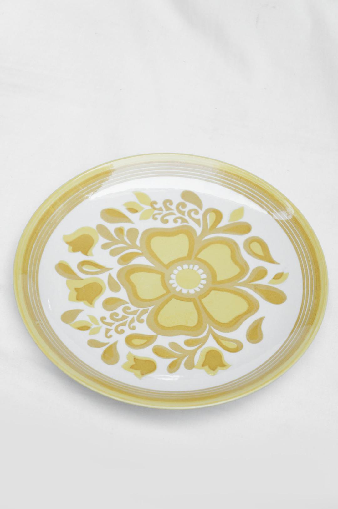US Vintage Royal China Damsel Dinner Plate/アメリカ ヴィンテージ ロイヤルチャイナ ダムセル ディナープレート 食器 レトロ 3