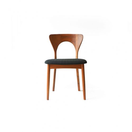Danish Vintage Dining Chair Peter by Niels Koefoed for KOEFOEDS HORNSLET/デンマーク ヴィンテージ ダイニングチェア ピーター ニールス・コフォード 椅子 北欧家具 チーク材 ブラックネイビー