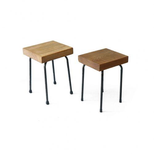 Japanse Shogi Board Side Table/将棋盤 サイドテーブル スツール リメイク 花台 インテリア インダストリアルモダン