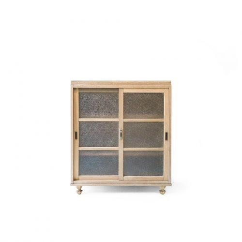 Japanese Vintage Glass Cabinet/ジャパンヴィンテージ ガラスキャビネット 昭和レトロ 古道具 収納家具 食器棚 本棚