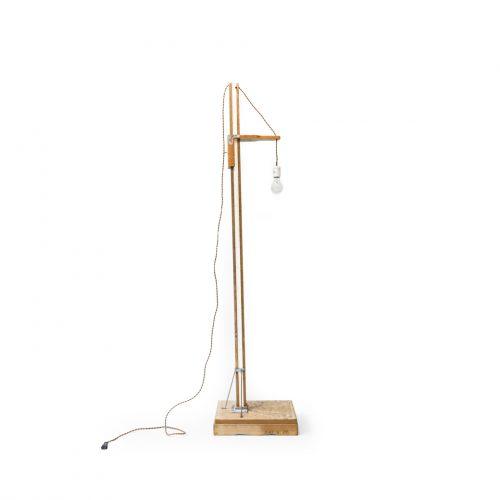 Japanese Vintage Height Meter Lamp/ヴィンテージ 身長計 リメイクランプ 照明 古賀秀幸 インテリア 古道具