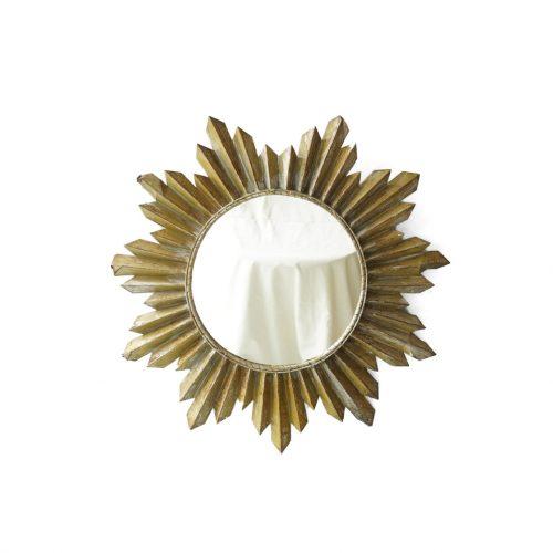Midcentury Vintage Sunburst Wall Mirror/ミッドセンチュリー ヴィンテージ サンバースト ウォールミラー 壁掛け鏡 インテリア