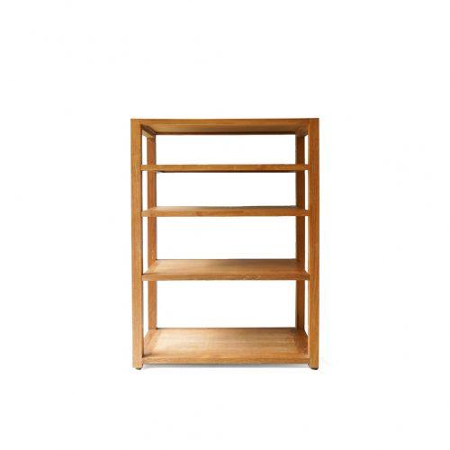 Teakwood Open Rack Shelf/オープンラック シェルフ チーク材 棚 ブックシェルフ 収納 シンプル ナチュラル