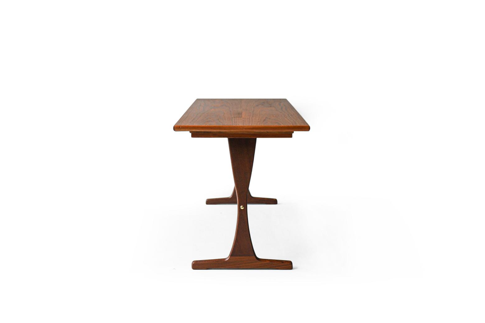 Scandinavian Vintage Trestle Side Table
