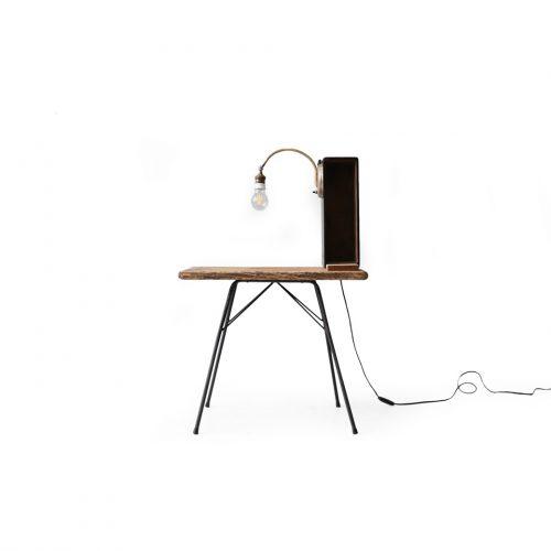 Antique Console Table with Lamp/アンティーク コンソールテーブル ランプ マガジンラック 間接照明 シャビーシック