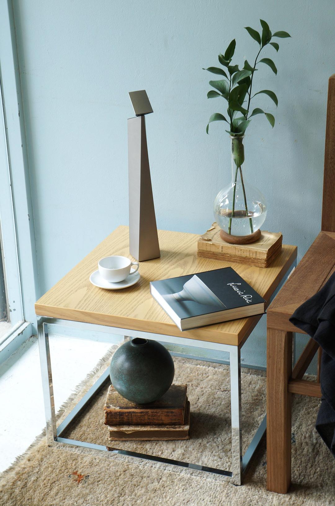"""SOGOKAGU × ichimiri-design Low Table """"GEOMETRY""""/相合家具製作所×イチミリデザイン ローテーブル ジオメトリ・カク ホワイトアッシュ シンプルモダン"""