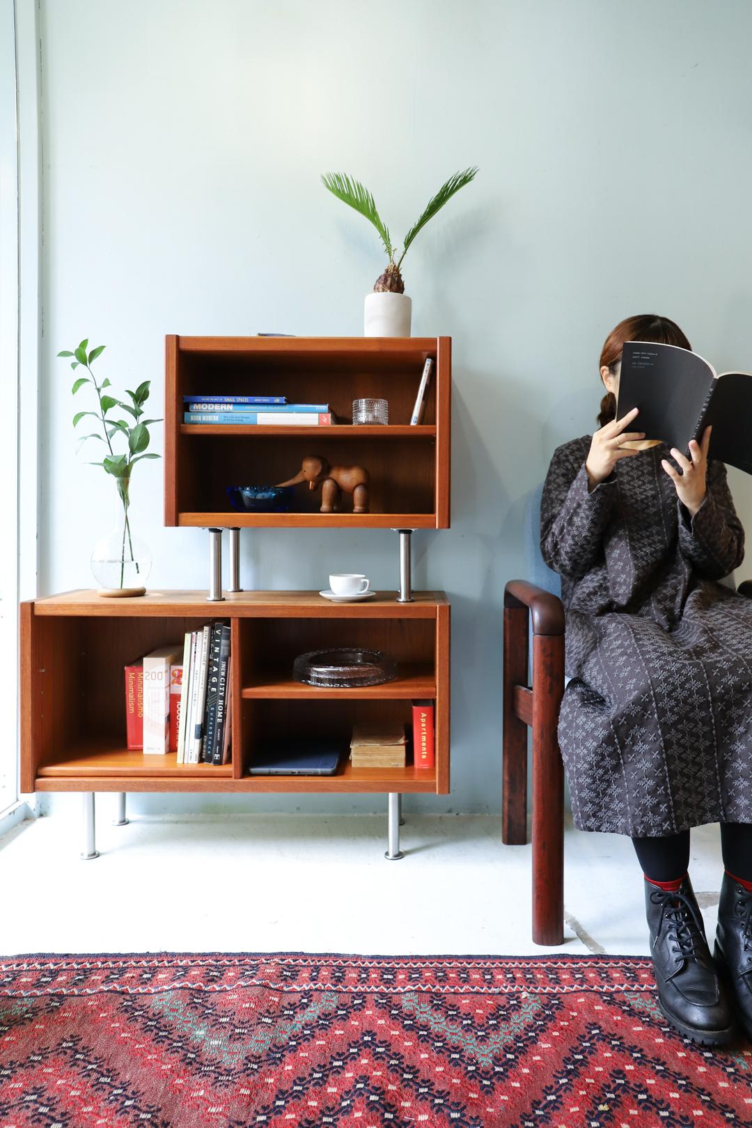 Japanese Vintage Teakwood Small Sideboard/ジャパンヴィンテージ スモールサイドボード テレビボード チーク材 北欧モダンデザイン
