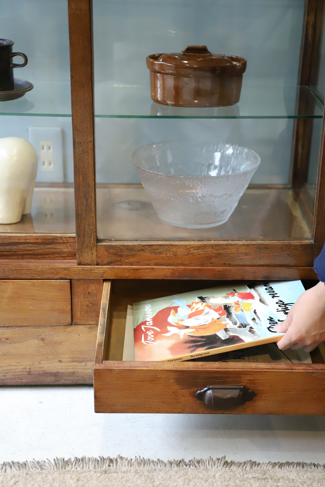 Japanese Vintage Glass Show Case/ジャパン ヴィンテージ ガラスショーケース 古道具 昭和レトロ モダン