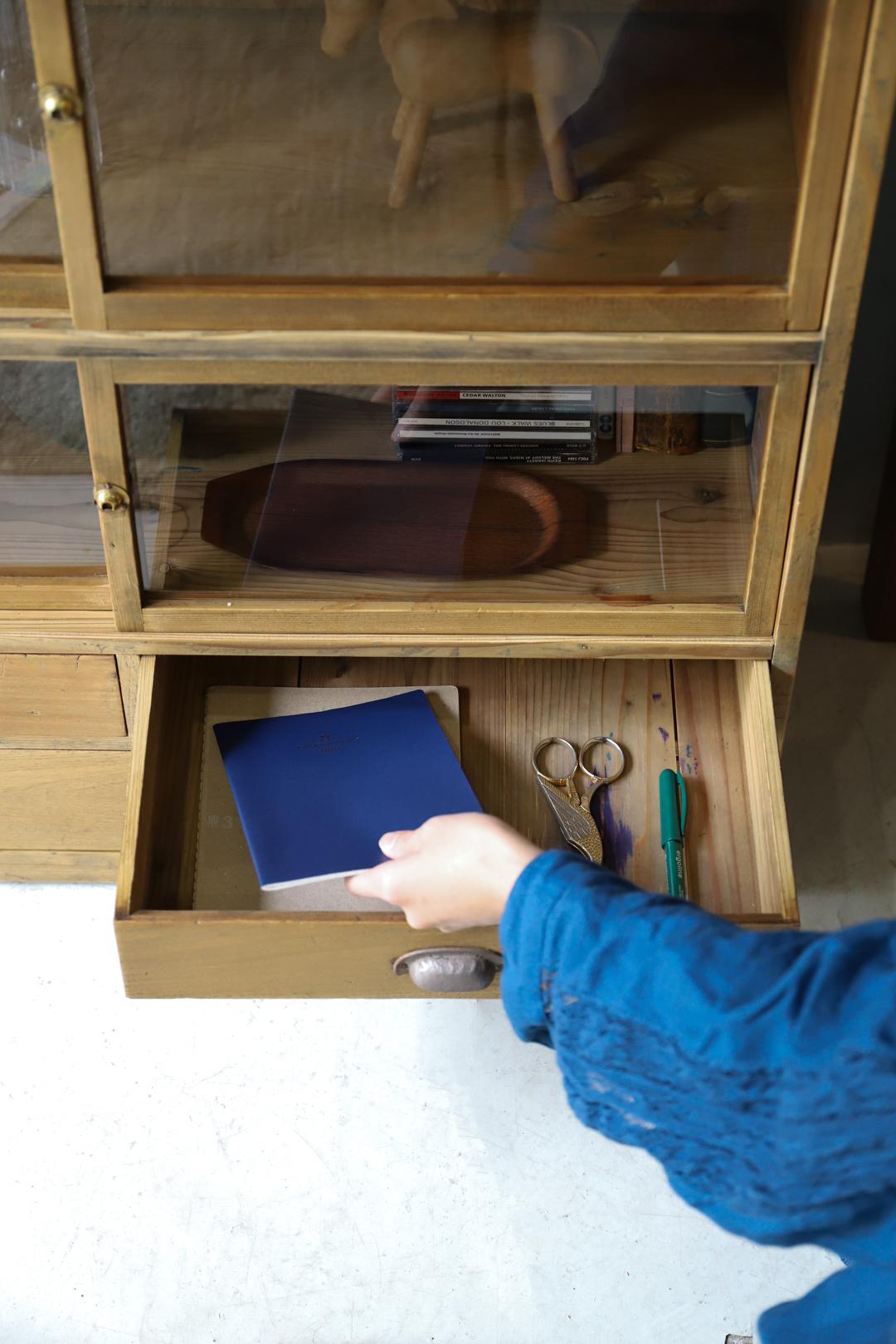 Japanese Vintage Tea Cabinet/ジャパンヴィンテージ 茶箪笥 食器棚 カップボード 収納 昭和レトロ モダン