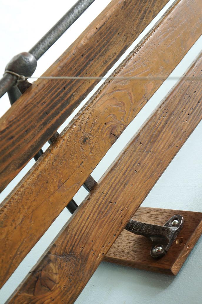 Vintage Train Luggage Rack/ヴィンテージ トレインラゲッジラック ウォールラック 壁付け棚 インダストリアル