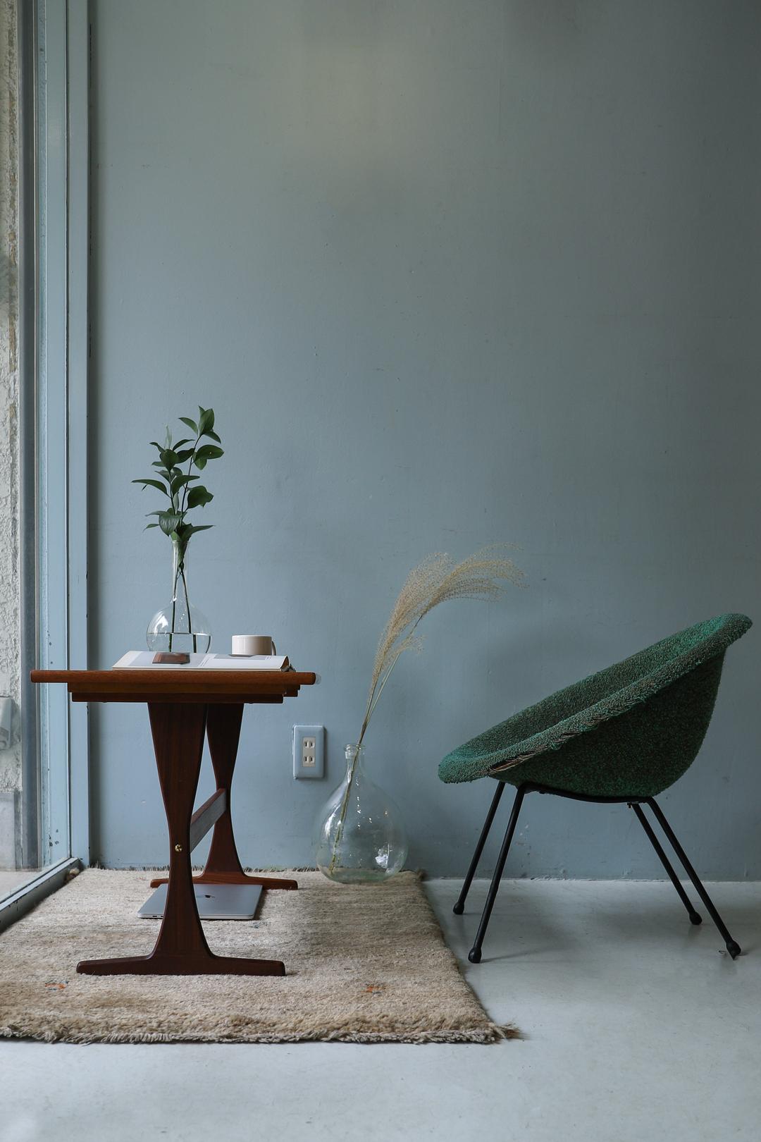 Scandinavian Vintage Trestle Side Table/北欧ヴィンテージ サイドテーブル ローテーブル チーク材 ミッドセンチュリーモダン