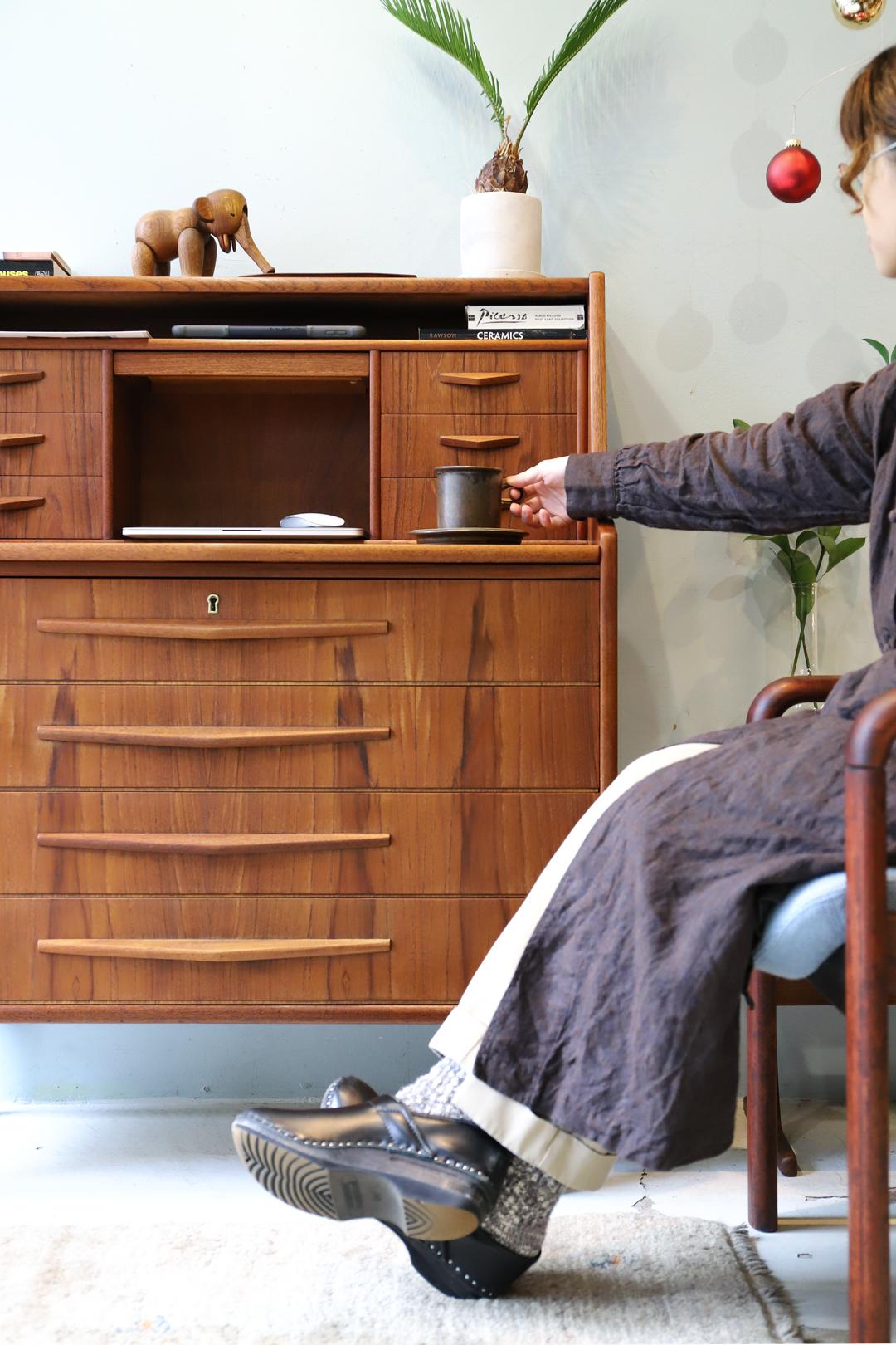 Randers Møbelfabrik Writing Bureau Danish Vintage/デンマーク ヴィンテージ ライティング ビューロー デスク チェスト ドレッサー 北欧家具
