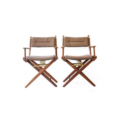 Wooden Director's Chair/ディレクターズチェア 折りたたみ 椅子 USモダン アウトドア