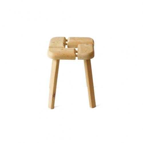 Finnish Vintage Pinewood Stool/フィンランド ヴィンテージ スツール 椅子 パイン材 北欧家具 1