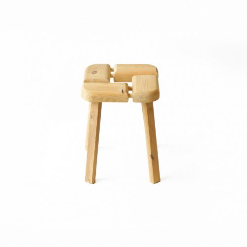 Finnish Vintage Pinewood Stool/フィンランド ヴィンテージ スツール 椅子 パイン材 北欧家具 2