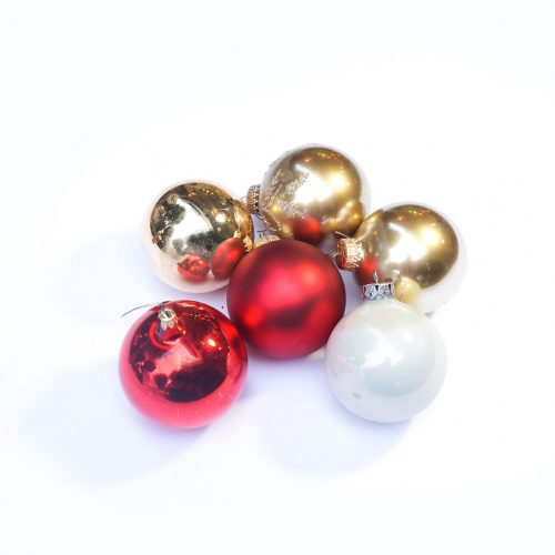 Vintage Blown Glass Christmas Ball Ornament/ヴィンテージ クリスマス オーナメント 吹きガラス ボール レトロ 6個セット 5