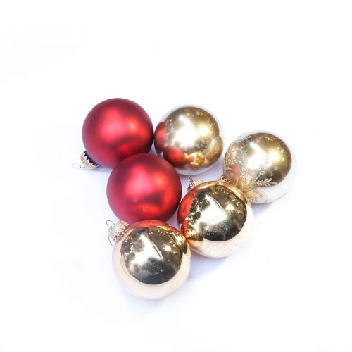 Vintage Blown Glass Christmas Ball Ornament/ヴィンテージ クリスマス オーナメント 吹きガラス ボール レトロ 6個セット 9