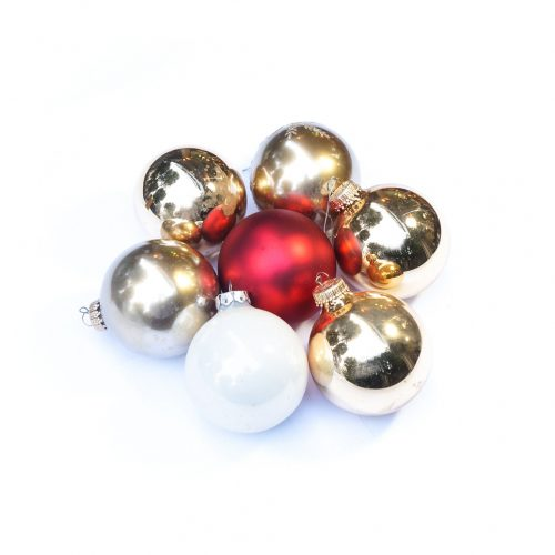 Vintage Blown Glass Christmas Ball Ornament/ヴィンテージ クリスマス オーナメント 吹きガラス ボール レトロ 7個セット 11