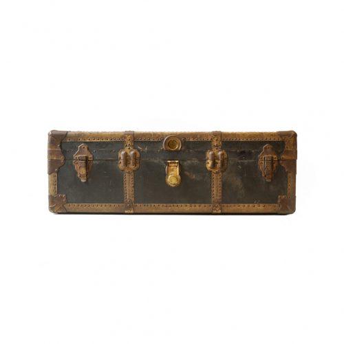 US Antique Steamer Trunk Jordan Marsh/アメリカ アンティーク スチーマートランク スーツケース ディスプレイ チェスト ボックス 収納 2