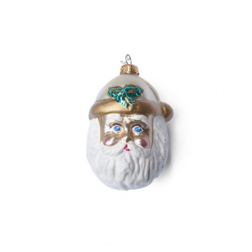 Blown Glass Christmas Ornament Doll/クリスマスオーナメント 吹きガラス レトロ 人形 サンタの顔 7