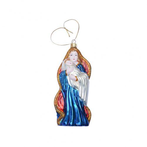 Blown Glass Christmas Ornament Doll/クリスマスオーナメント 吹きガラス レトロ 人形 マリア 6