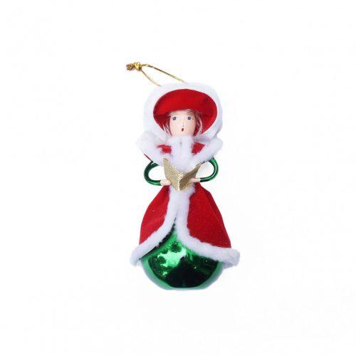 Blown Glass Christmas Ornament Doll/クリスマスオーナメント 吹きガラス レトロ 人形 本を読む貴婦人 4