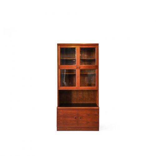 Vintage Teakwood Glass Cabinet・Book Case/ジャパンヴィンテージ ブックケース ガラスキャビネット 本棚 チーク材 レトロモダン