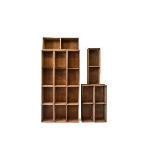 Japanese Vintage Wooden Box Shelf/ジャパンヴィンテージ ボックスシェルフ 木箱 収納ボックス レトロ シャビー