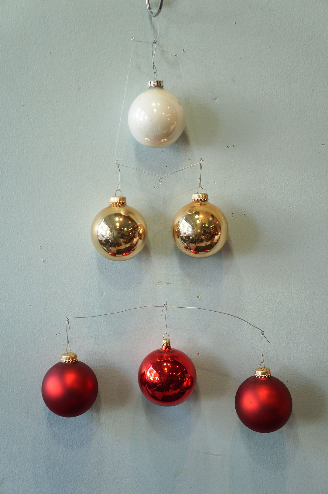 Vintage Blown Glass Christmas Ball Ornament/ヴィンテージ クリスマス オーナメント 吹きガラス ボール レトロ 6個セット 3