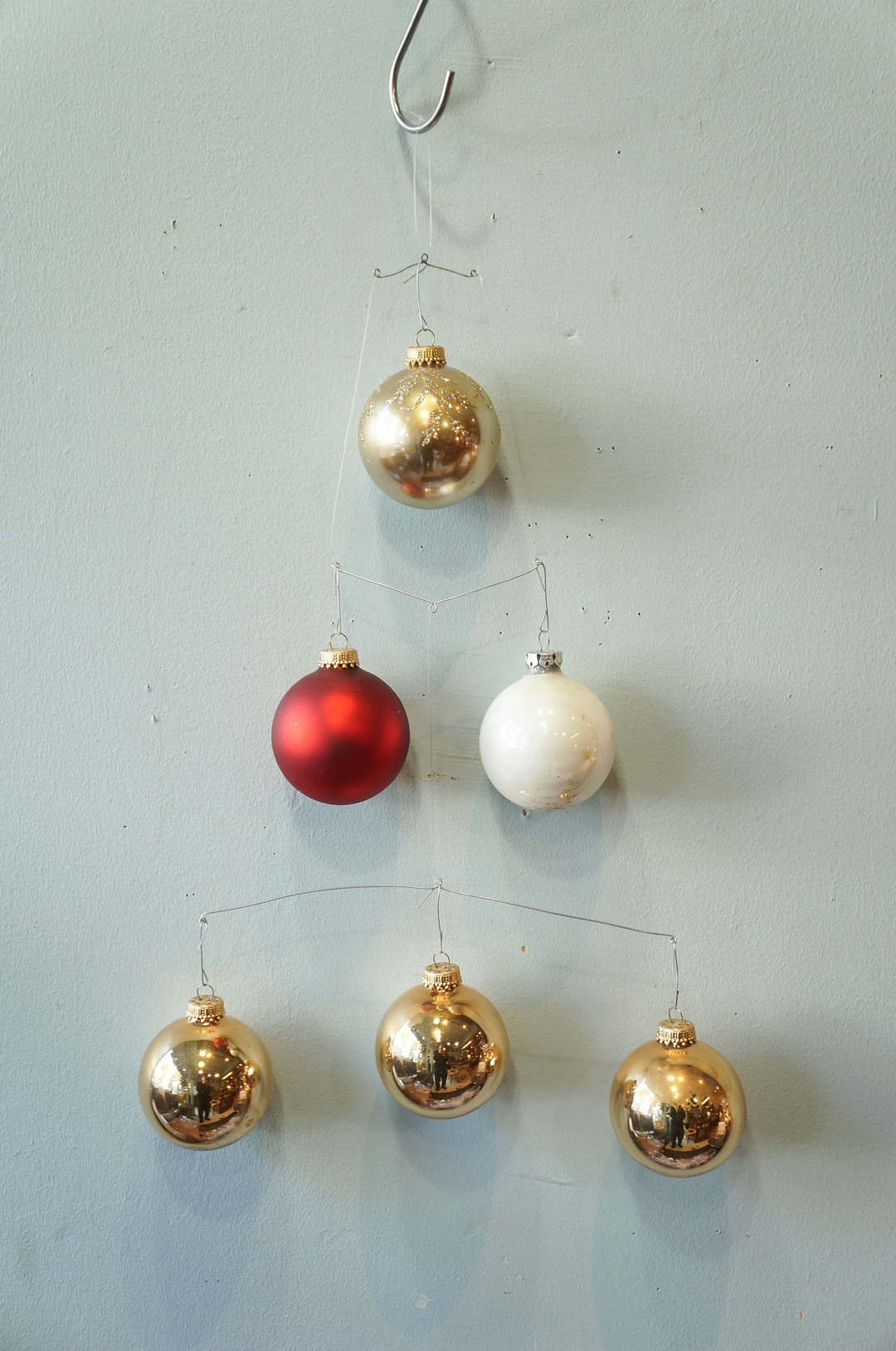 Vintage Blown Glass Christmas Ball Ornament/ヴィンテージ クリスマス オーナメント 吹きガラス ボール レトロ 6個セット 7
