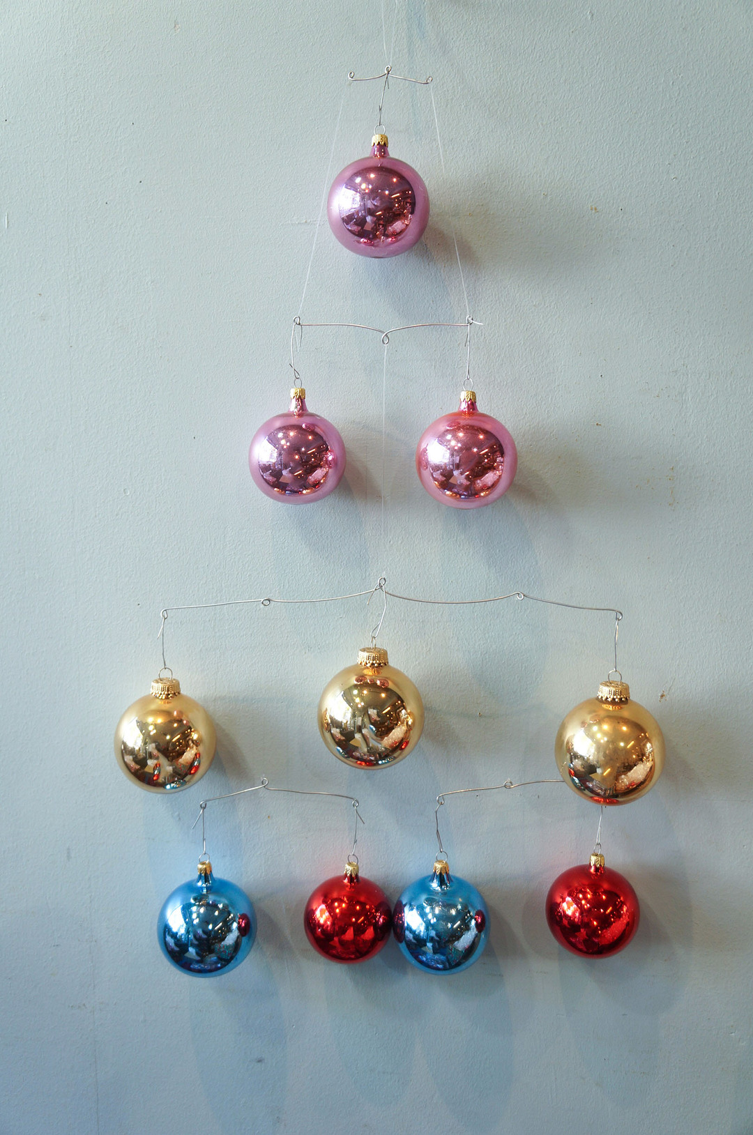 Vintage Blown Glass Christmas Ball Ornament/ヴィンテージ クリスマス オーナメント 吹きガラス ボール レトロ 10個セット 1