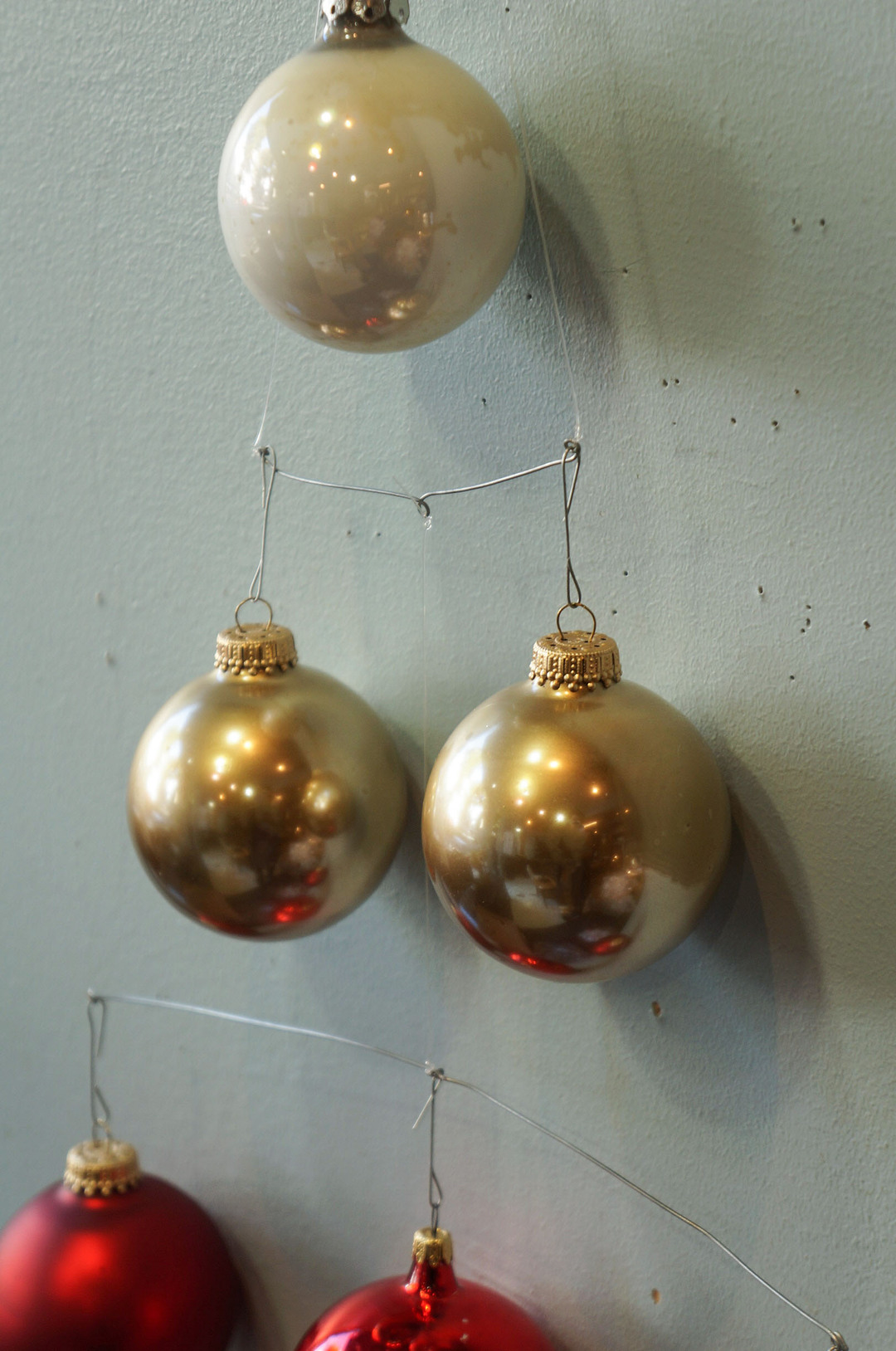 Vintage Blown Glass Christmas Ball Ornament/ヴィンテージ クリスマス オーナメント 吹きガラス ボール レトロ 6個セット 4