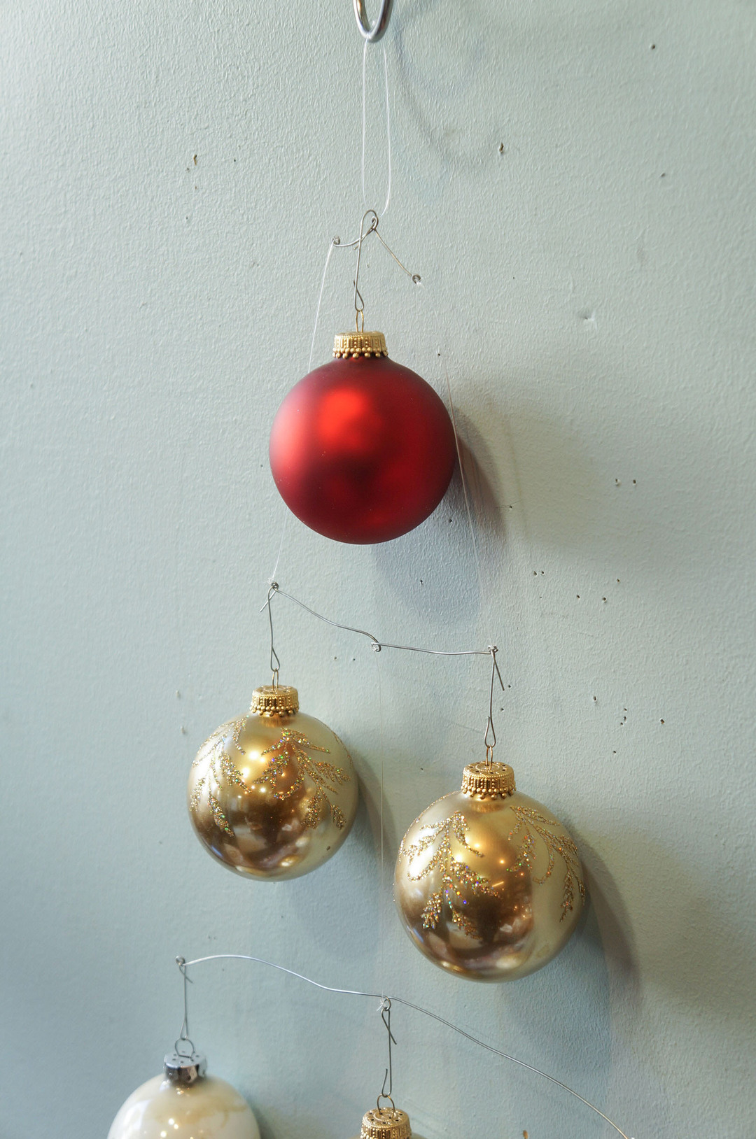 Vintage Blown Glass Christmas Ball Ornament/ヴィンテージ クリスマス オーナメント 吹きガラス ボール レトロ 6個セット 8