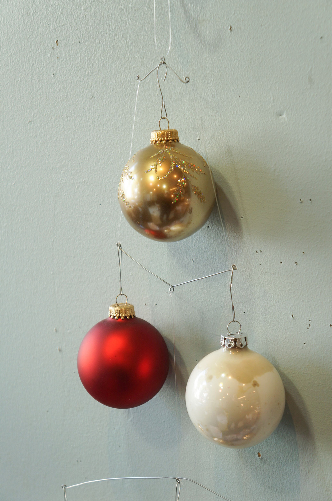 Vintage Blown Glass Christmas Ball Ornament/ヴィンテージ クリスマス オーナメント 吹きガラス ボール レトロ 6個セット 10