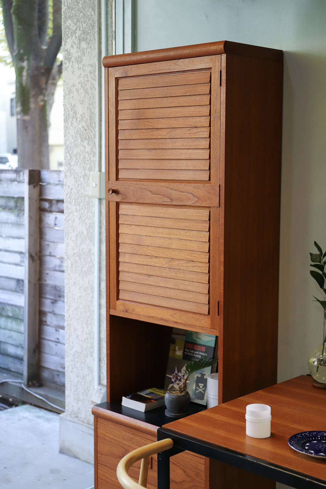 Japanese Vintage Teakwood Cabinet Chest/ジャパンヴィンテージ キャビネット チェスト 本棚 チーク材 レトロモダン