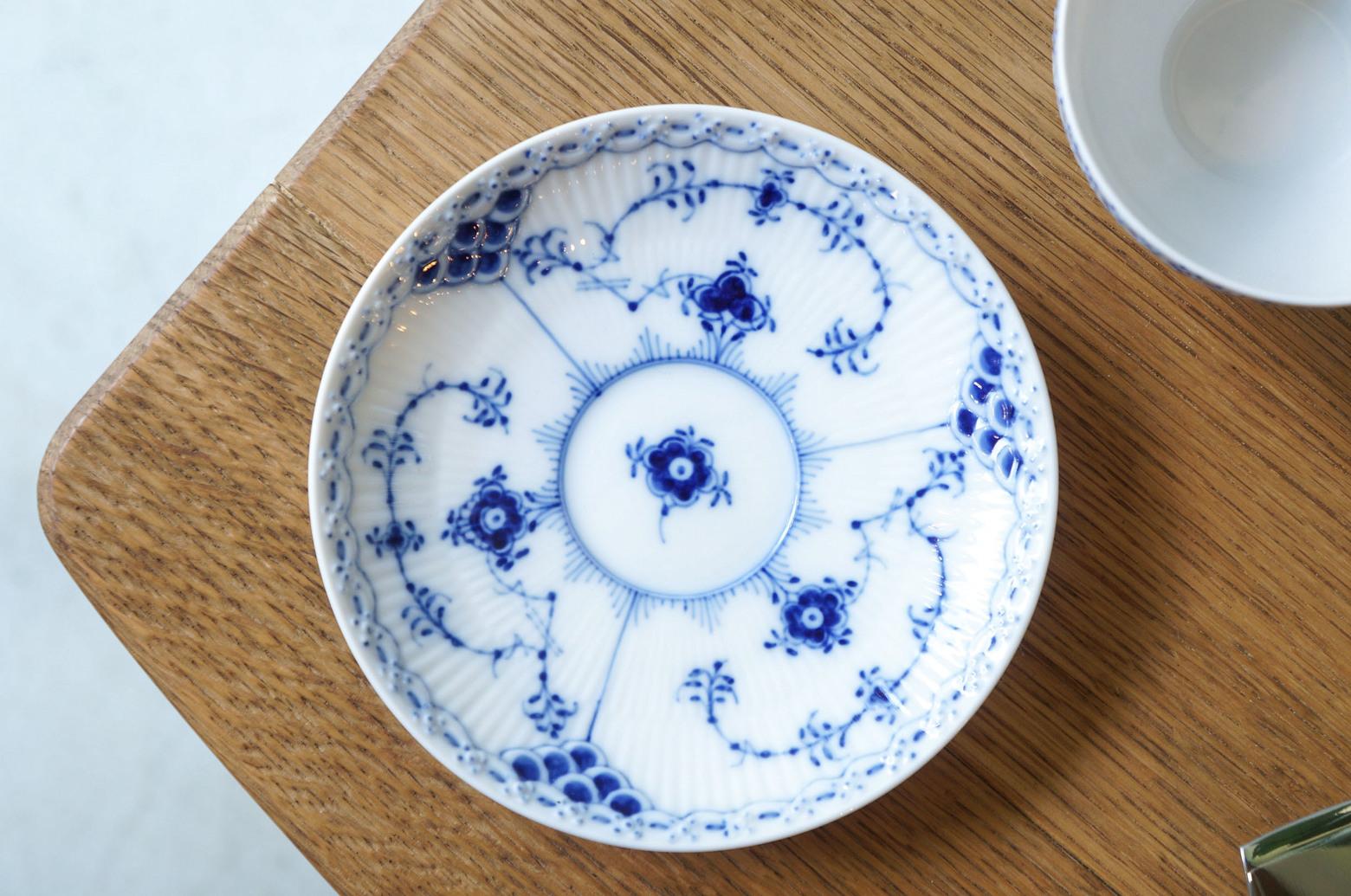 Royal Copenhagen Blue Fluted Half Lace Tea Cup and Saucer/ロイヤルコペンハーゲン ブルーフルーテッド ハーフレース ティーカップ&ソーサー 北欧食器 4
