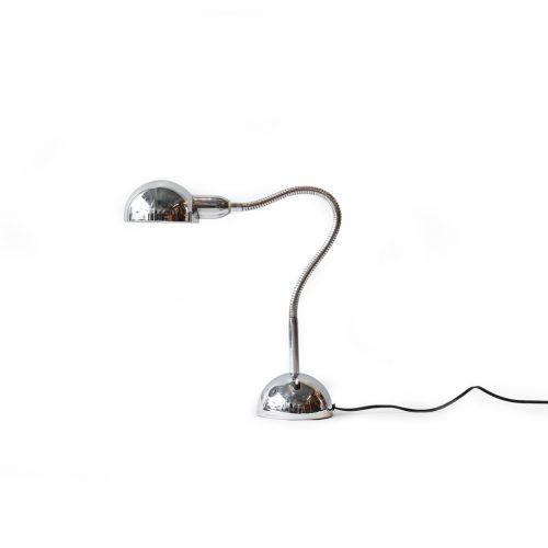 France Vintage Silver Gooseneck Lamp/フランスヴィンテージ シルバー グースネック デスクランプ 照明 ミッドセンチュリーモダン インテリア