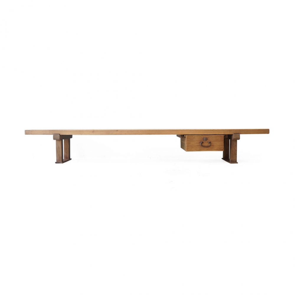 Japanese Vintage Wooden Low Board/ジャパンヴィンテージ ローボード 裁ち台 テレビ台 引き出し 古道具 時代家具 1