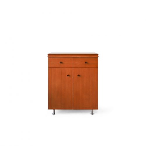 Japanese Vintage Teakwood Cabinet/ジャパンヴィンテージ キャビネット チーク材 電話台 収納家具 北欧モダン