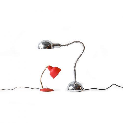 France Vintage Gooseneck Lamp/フランスヴィンテージ グースネック デスクランプ 照明 ミッドセンチュリーモダン インテリア