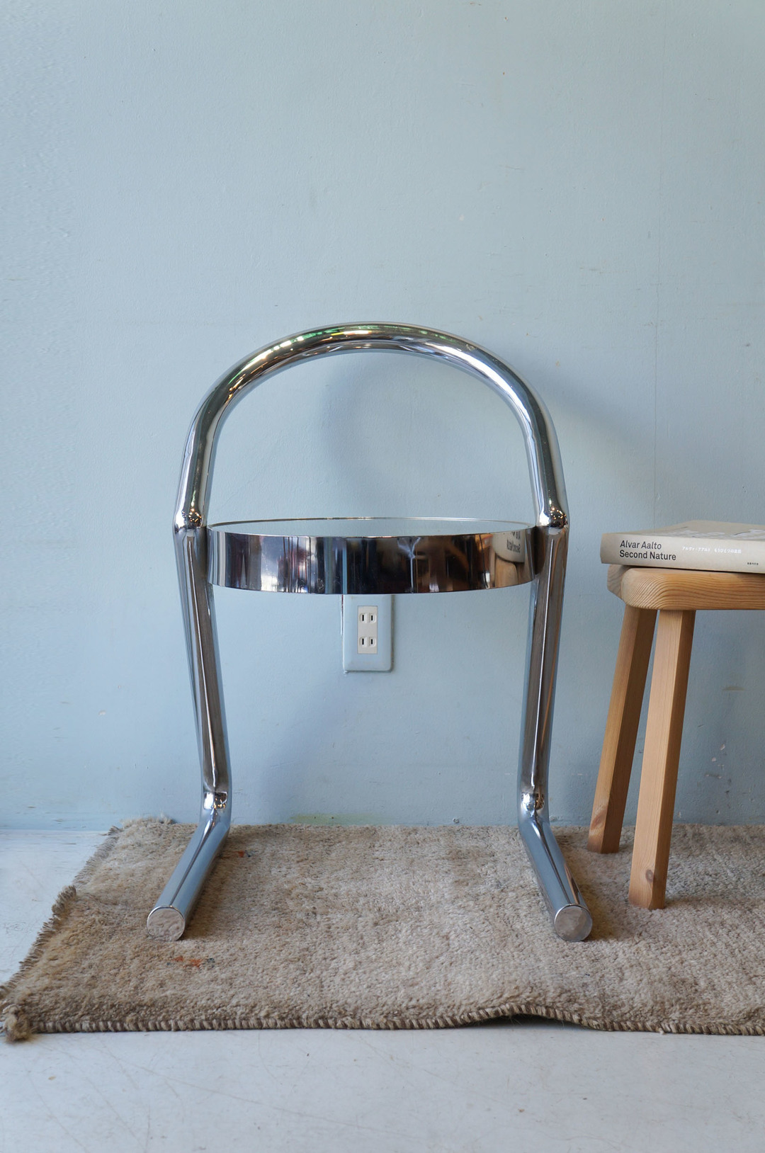 Post Modern Style Glass Chrome Chair/ガラストップチェア 椅子 ポストモダン イタリアンモダン ミッドセンチュリーモダン 2