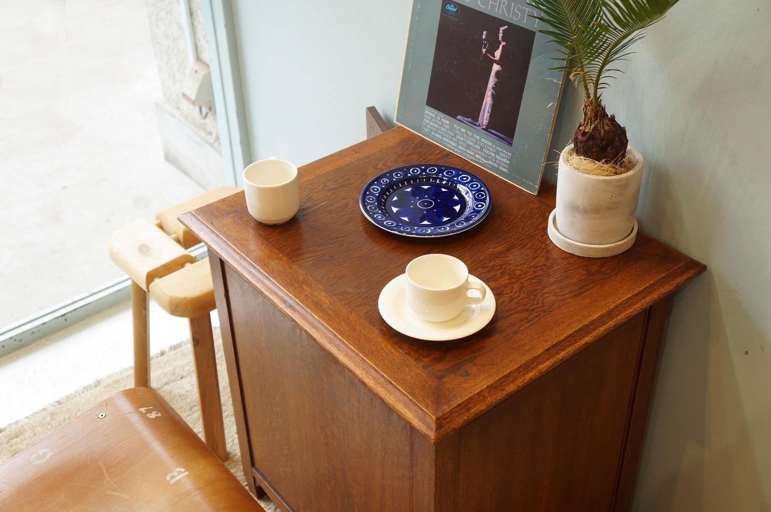 Japanese Vintage Record Cabinet/ジャパンヴィンテージ レコードキャビネット オーク材 収納 レトロモダン