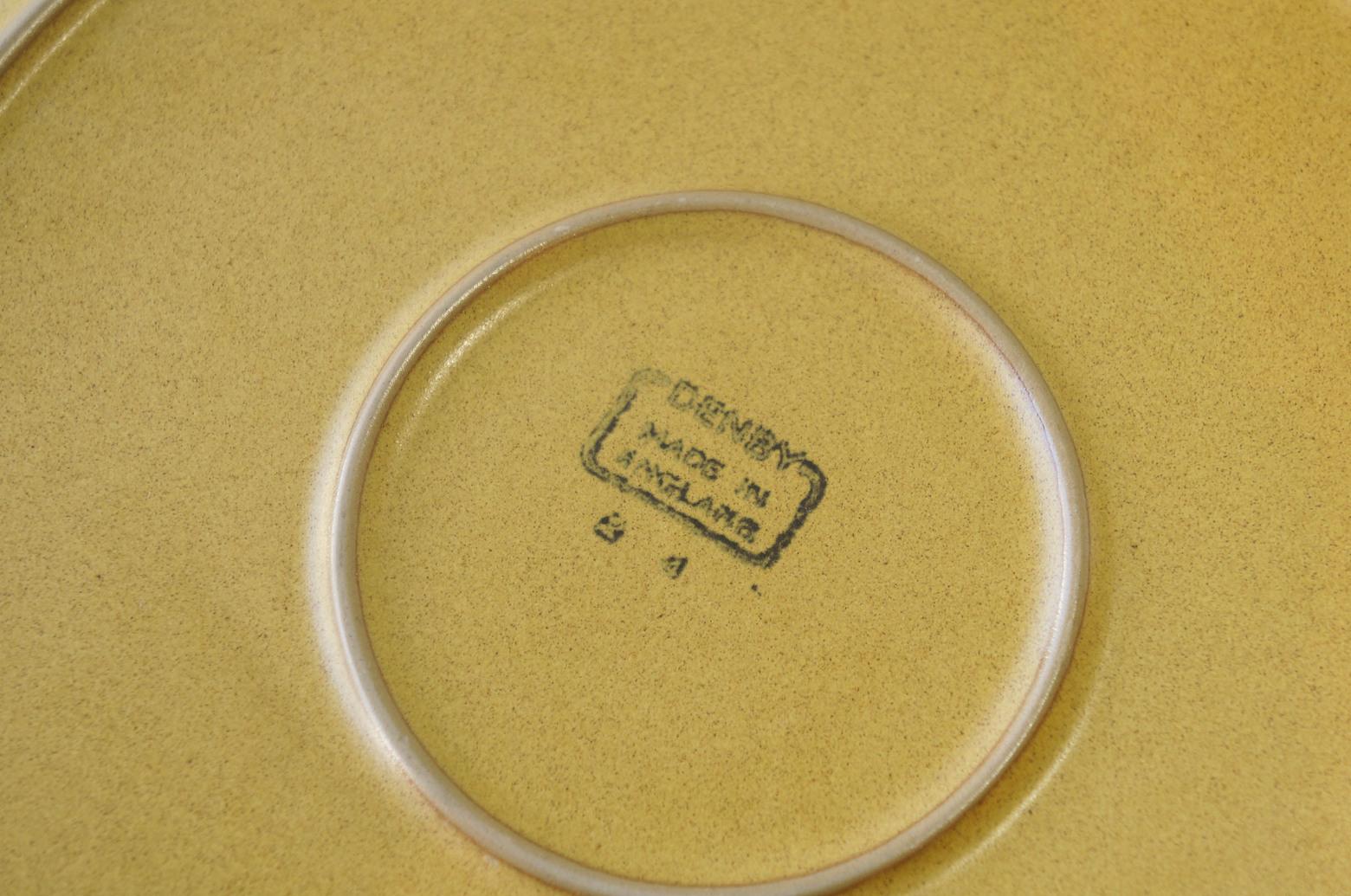 UK Vintage Denby ODE Plate Large/イギリスヴィンテージ デンビー オード プレート 皿 ストーンウェア 食器 大 1
