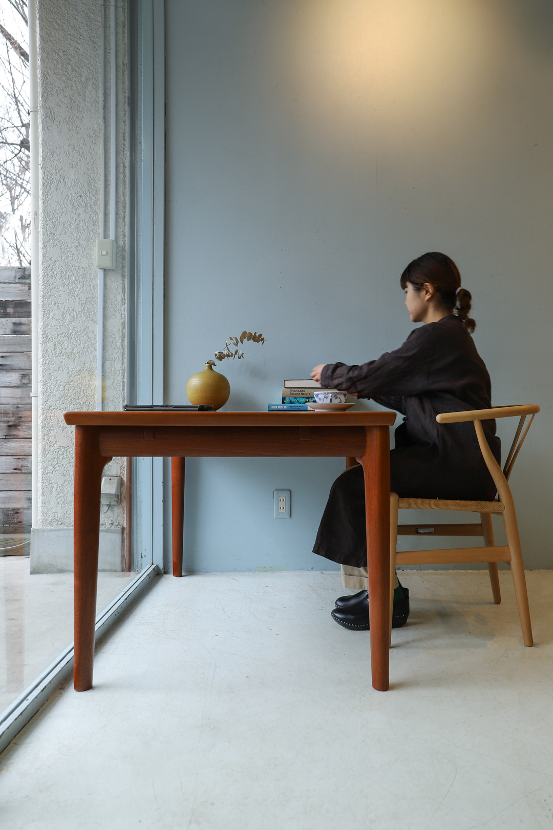 Glostrup Møbelfabrik Extension Dining Table Grete Jalk/デンマークヴィンテージ エクステンションダイニングテーブル グレーテ・ヤルク チーク材 北欧家具